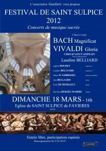 Affiche du 18 mars 2012 du Choeur Saint Germain